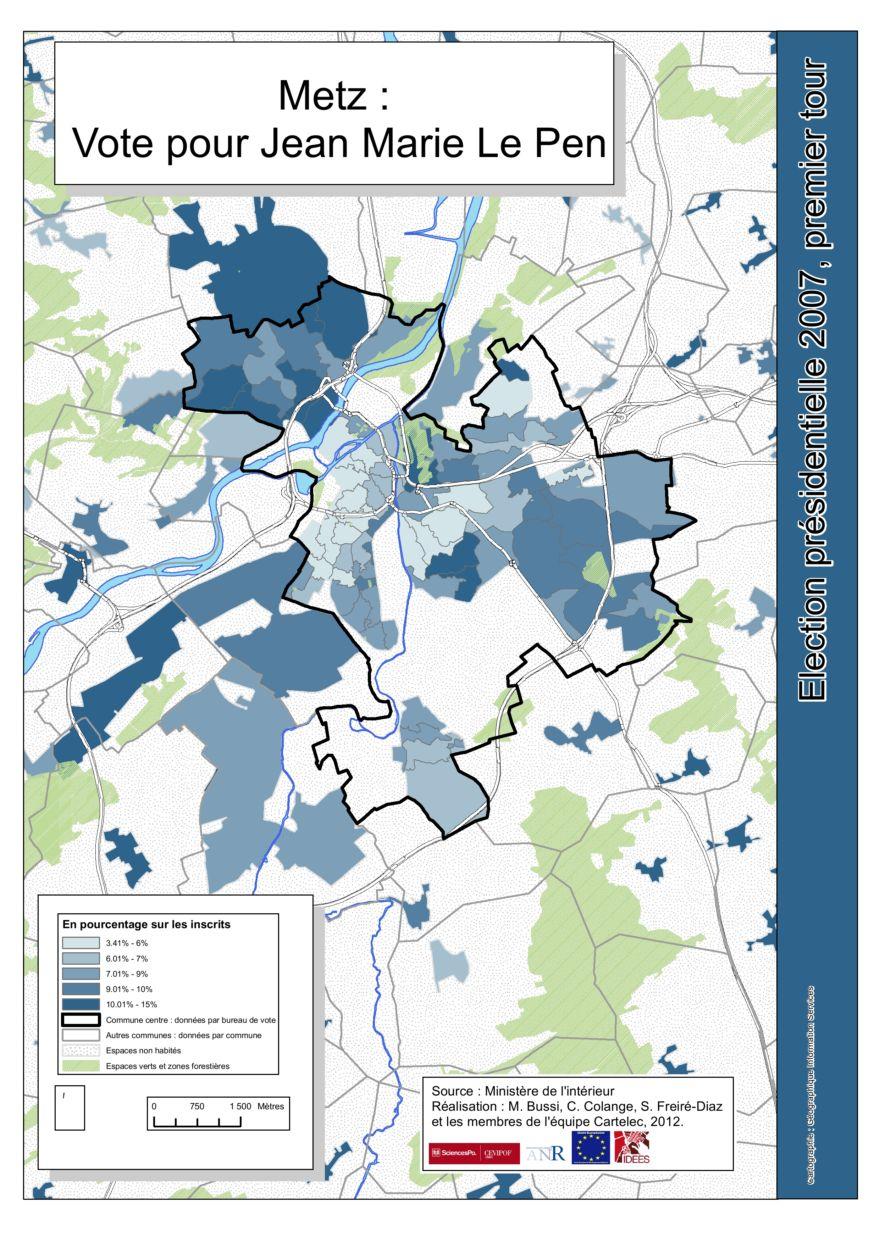 Metz Premier Tour Le Pen Presidentielle 2007